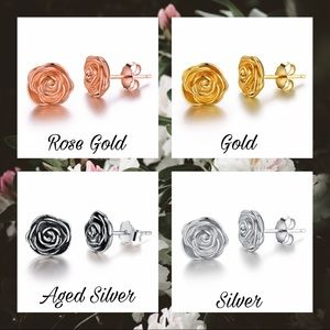 💍 Rose Stud Earrings